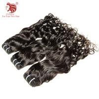 [FYNHA] Indian Virgin Hair Water Wave Weave Human Hair 3 Bundles Deal Natural Black Extensions beautiful princess hair