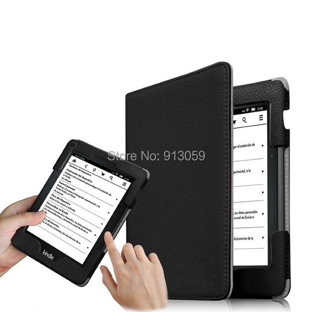 NFcase for amazon kindle voyage 6'' ereader 2014 protective cover smart case  pu leather cover +screen protector+stylus as gift ultra thin smart flip pu leather cover for lenovo tab 2 a10 30 70f x30f x30m 10 1 tablet case screen protector stylus pen