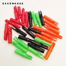 50 шт., 5 цветов, внутренние стрелы для стрелы из углеродного стекловолокна, стрелы Nocks ID 6,2 мм OD 7,6 мм