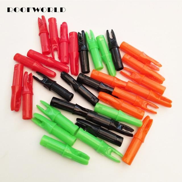 50 шт в наборе, 5 цветная стрела внутренний Nocks для Вал стрельба из лука стрела из угле-и стеклопластика Nocks ID 6,2 мм OD 7,6 мм Бесплатная доставка