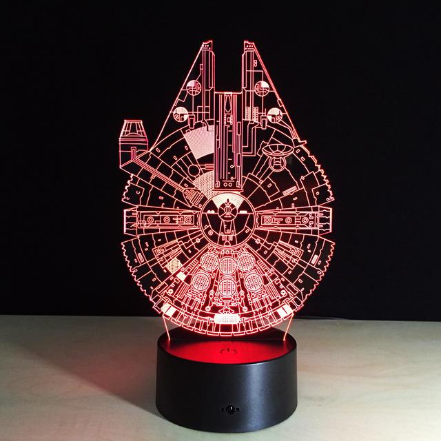 Atacado Falcon tenda USB Nightlight presentes criativos 3D decorativo da lâmpada de iluminação LED produtos da lâmpada