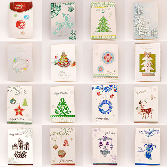 8pcs Set Cute Cartoon Deer Christmas Greeting Card Kids Birthday