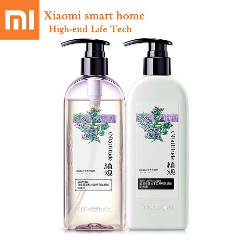 D'origine Xiaomi acide aminé shampooing réparation cheveux naturel plante enlever huile lavage cheveux liquide Gulong parfum pour cheveux gras