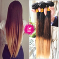 9A Weave Indian Virgin Hair Ombre Blonde Straight Hair 100% Human Hair Bundles 1B/4/27 Ombre Straight Hair Weave
