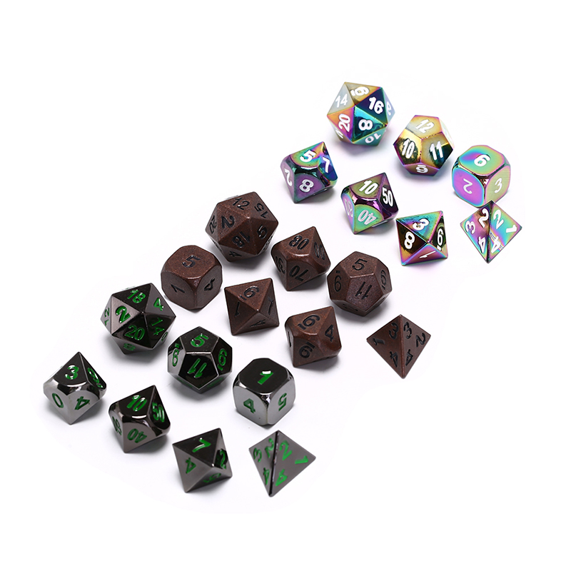 7pcs/set High Quality D&D Metal Dice Role Playing Game Dice For TRPG Board Game Dungeons And Dragons Creative RPG Dice image
