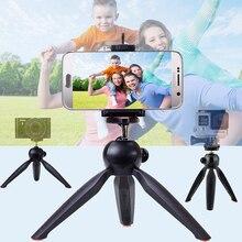 Для Canon Nikon Sony Gopro Hero цифровых зеркальных Камера для iphone Samsung телефон Yunteng 228 селфи поворотная головка Мини Настольный штатив