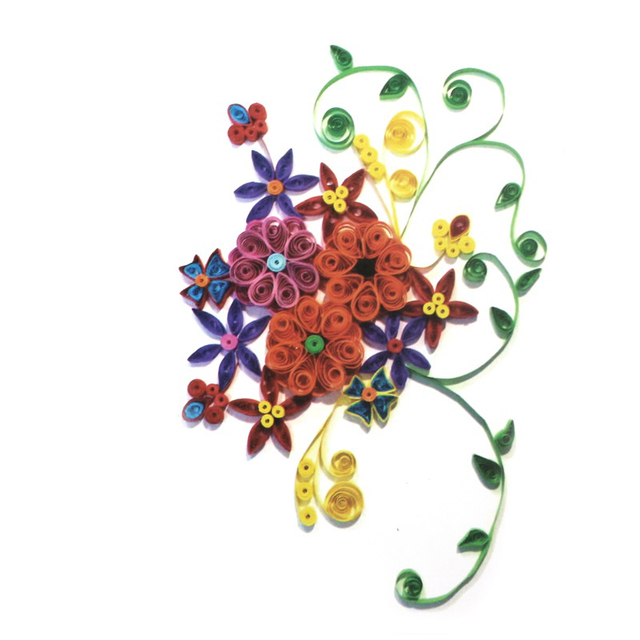 Flowers Paper Quilling Folded Painting Art Craft Papermaker Kids