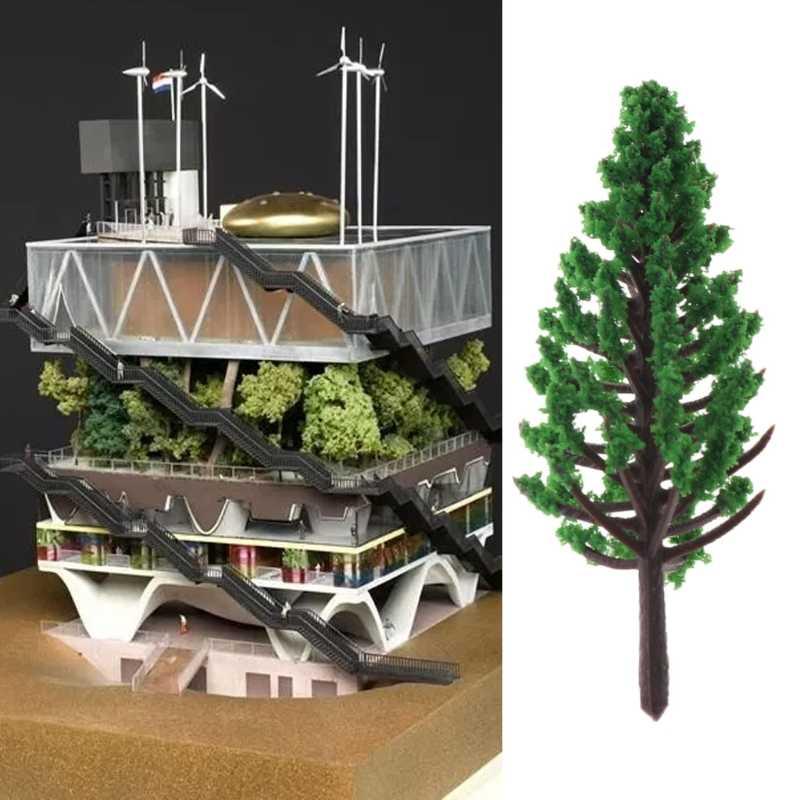 20 Pcs Ho Skala Model Pohon Taman Jalan Kereta Api Tata Letak Rumah Warna Hijau Model Kereta Api Tata Letak Kereta Api Campuran Pohon Blossom