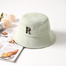 Embroidery R Bucket Hat Women Men Summer Sun For Girls Fashion Outdoor Sports Hip Hop Cap Panama Man Soft Fishing