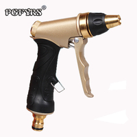 New High Quality All Copper Gun Head High Pressure Garden Water Gun Pull type before car cleaning gun Plastic wrapped handle
