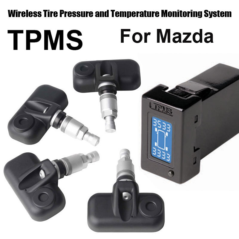 Wireless Tire Pressure Monitoring System Car TPMS for Mazda with 4pcs Internal sensor