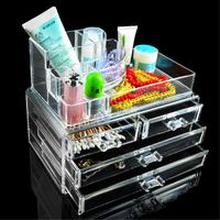 12 Grids 4 Layer Drawers Organizer Storage Box Makeup Case Jewelry Display Stand Clear Acrylic Multifunction