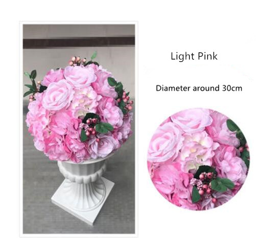 Wedding Flower Pillars: Wholesale Wedding Flower Ball 35cm For Roman Flower Vase