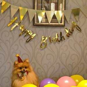 Image 5 - 3m 12 bandera oro rosa tablero de papel guirnalda pancarta para Baby Shower decoración de fiesta de cumpleaños decoración de habitación de niños guirnalda banderines