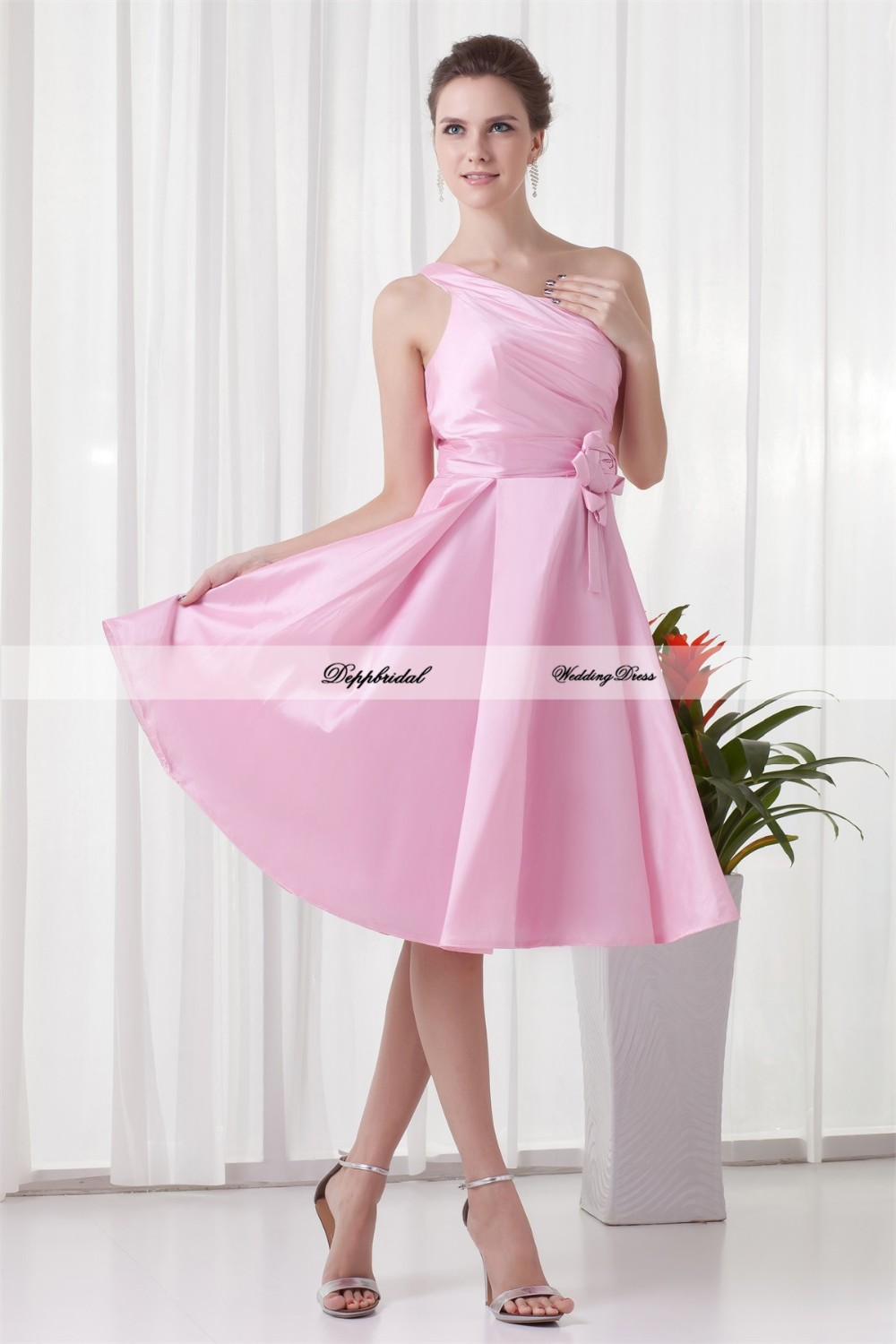 Handmade-Flower-s-A-Line-Tea-Length-One-Shoulder-Bridesmaid-Dresses-22708-80840
