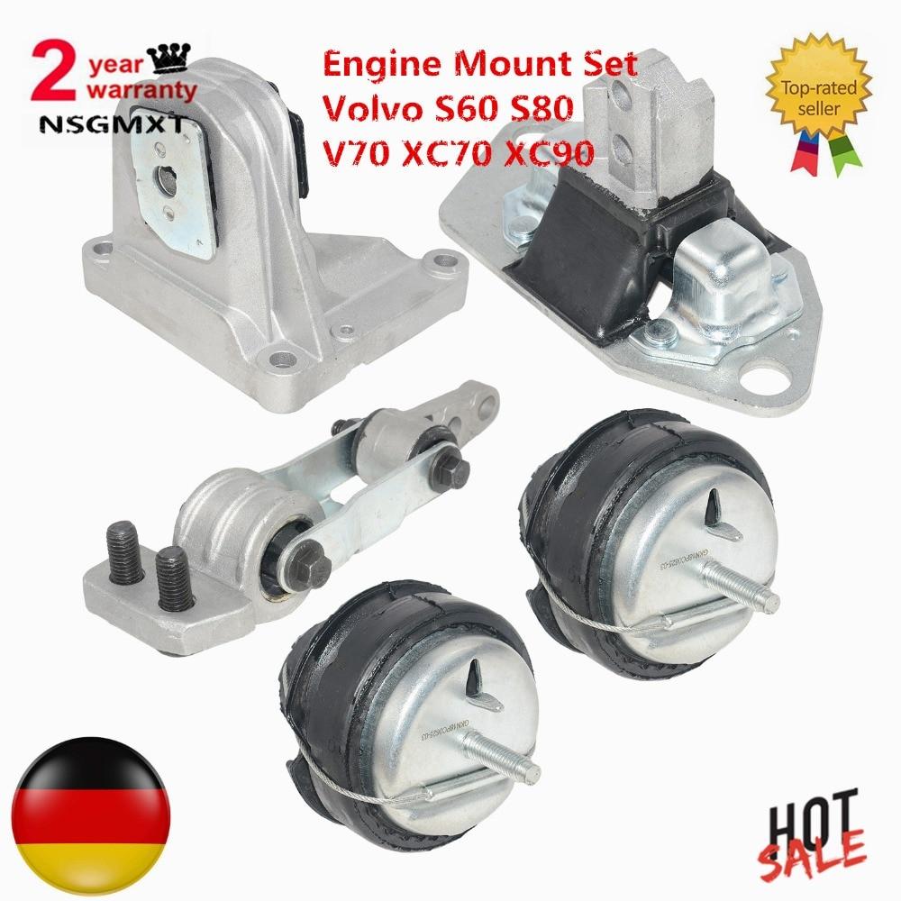 AP03 Brand New 5pcs Engine Mount Kit/set For Volvo S60 S80 V70 XC70 XC90 Ref: 8649597 30748811  8683936