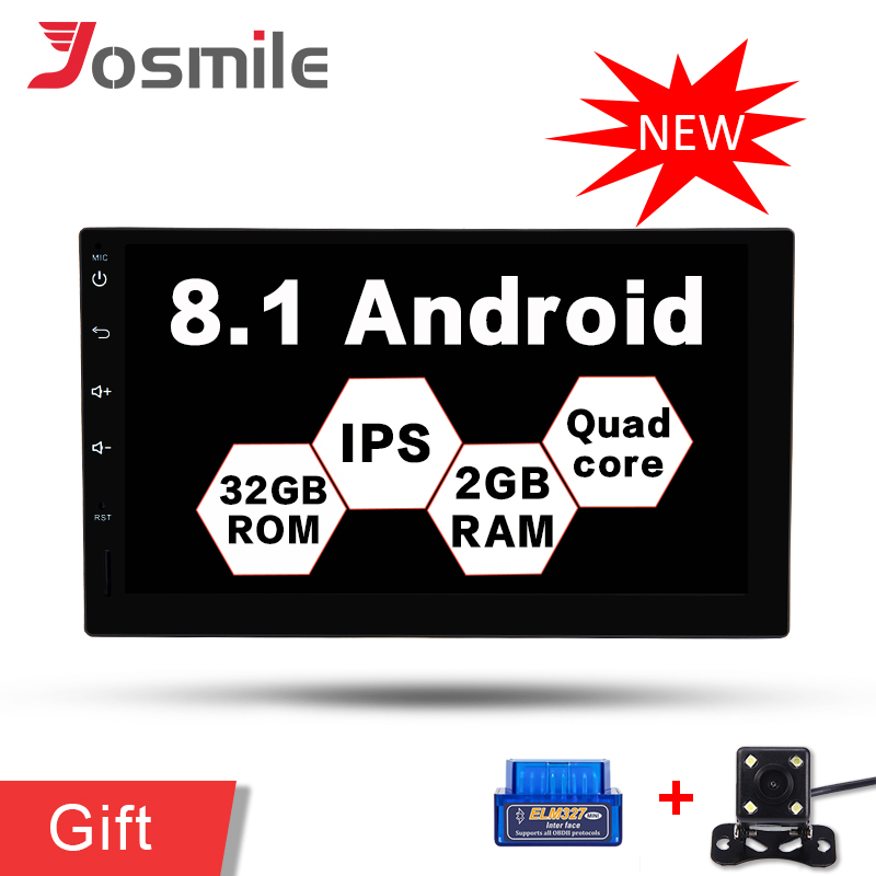 7 2 Din HD IPS Android 8.1 Car No DVD Radio Multimedia Player Universal GPS Navigation Auto Stereo Audio OBD2 DAB+ Wifi 3G/4G