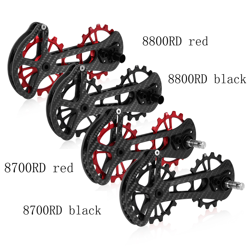 16T Bicycle Ceramic Bearing Jockey Pulley Wheel Set Carbon Fiber CNC Rear Derailleurs Guide for Shimano 6800/6870/4600/9000/9070-in Bicycle Derailleur from Sports & Entertainment    3