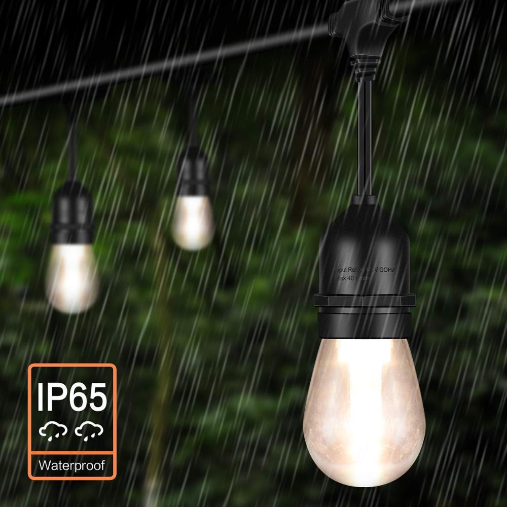 52FT LED en plein air chaîne lumières Edison ampoules étanche vacances lampe chaîne lumières décoratives pour noël jardin lumière chaîne - 5