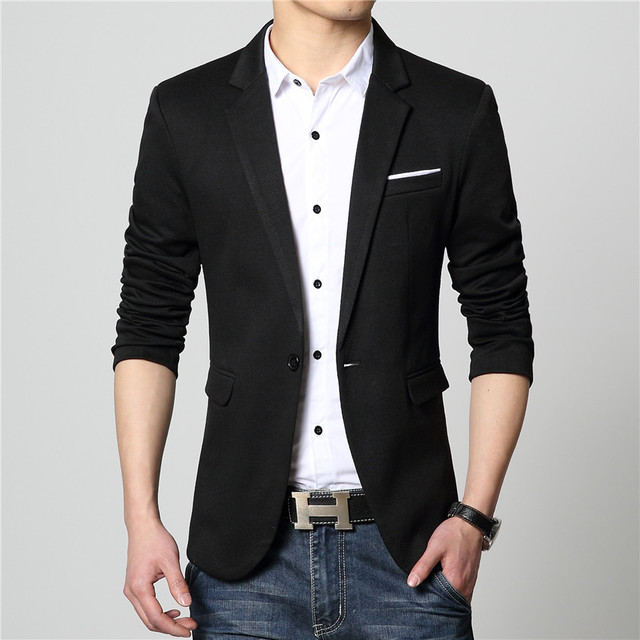f9144b48eab 2016 New Arrival Men Blazer High Quality Suit Jacket Fashion Male Casual  Jacket Single Breasted Male Blazer Suit