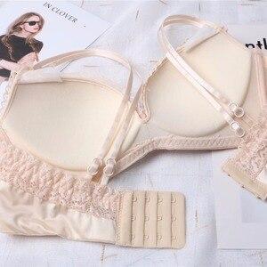 Image 5 - Retro stijl kant schoonheid bralette en slipje 3 kleuren push up verzamelen ademen mode ondergoed lingerie sets jonge meisjes sexy