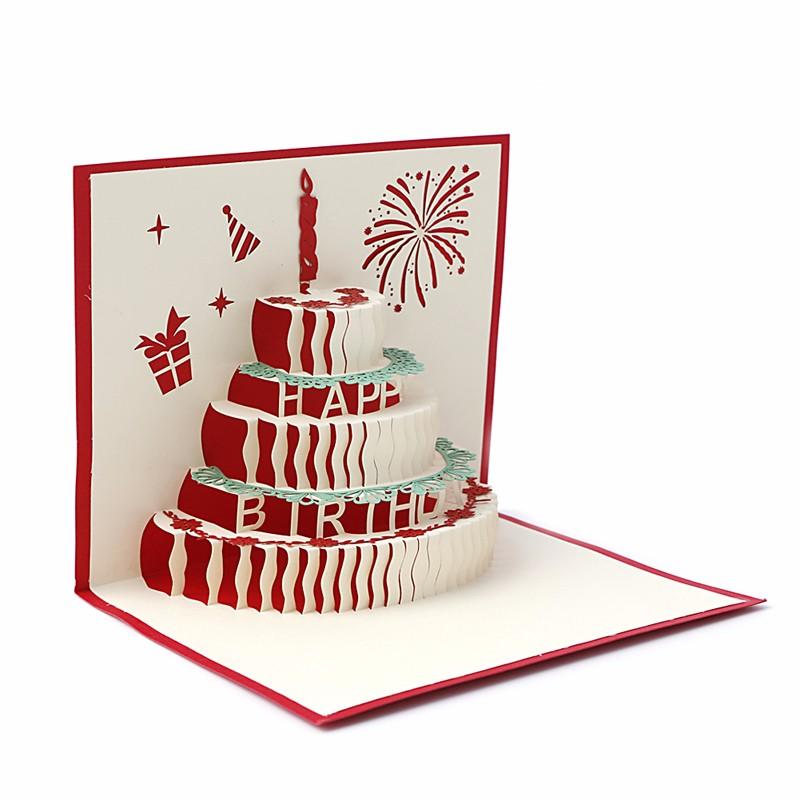 3D Handicraft Pop UP Stereoscopic Festival Greeting Cards Birthday ...