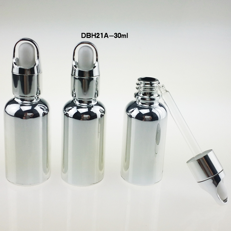 veleprodaja 100pcs steklo 1 unča kapalko steklenice, srebrna 1 oz kapalko steklenico steklo, prazne 30ml steklenice s kapalko  t