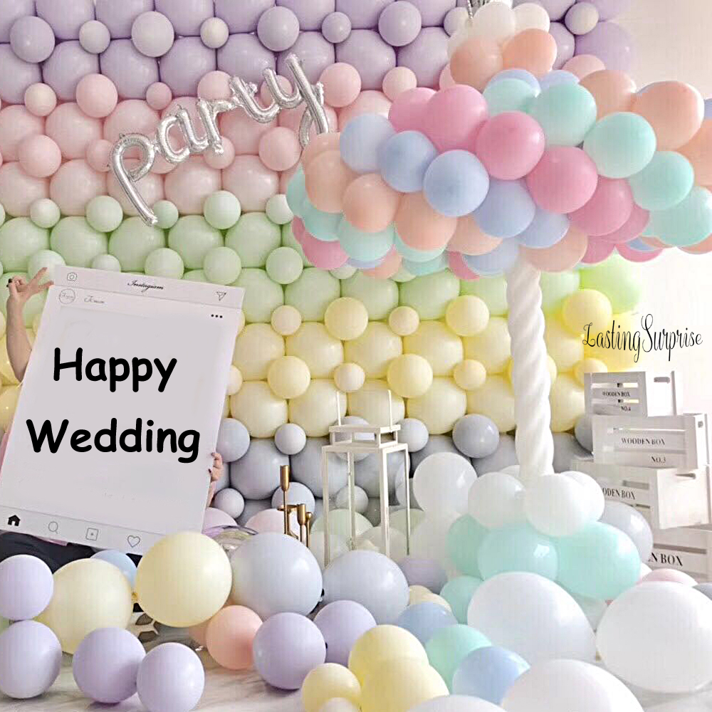 30pcs Mix Color Macaron Balloons Wedding Birthday Party 2.2g Pink Mint Rose Air Helium Latex Baby Decor Baby Shower Girls birthday cake