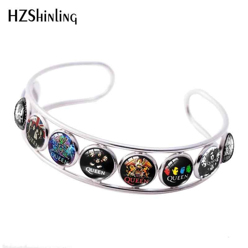 2019 Baru Band Rock Queen Adjustable Gelang Handmade Queen Band Musisi Gelang Kelas Dome Perhiasan