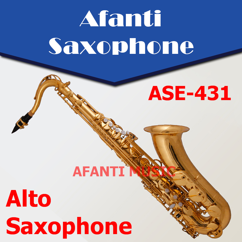 Afanti Music Eb tone / Brass body / Gold finish Alto Saxophone (ASE-431)