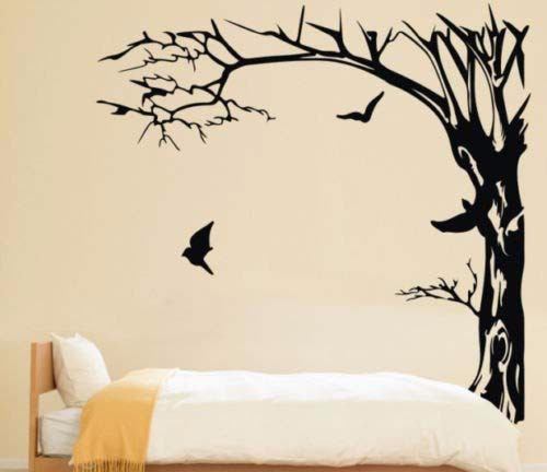 Large Black Trees and birds Wall Stickers Decal Removable Art Home Mural Vinyl 200X190CM-in Wall Stickers from Home u0026 Garden on Aliexpress.com | Alibaba ...  sc 1 st  AliExpress.com & Large Black Trees and birds Wall Stickers Decal Removable Art Home ...