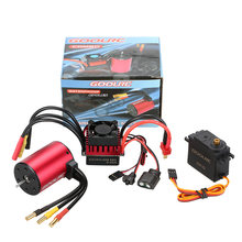 GoolRC S3650 3900KV Brushless Motor S-60A ESC with 6.0kg Metal Gear Servo Upgrade Brushless Combo Set for 1/10 RC Car Truck(China)