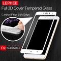 LEPHEE XIAOMI RedMi Note 4 Pro Prime Tempered Glass 9H Hardness 3D Carbon Fiber Soft Edge Full Screen Tempered Glass Film + Box