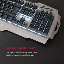 PK900 English and Russian RGB Backlit Wired Gaming Keyboard Transparent Switch Mechanical Similar Typing Gaming Experience