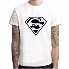 2019 Super Papa T-shirt Fathers Day Gift Dads Funny