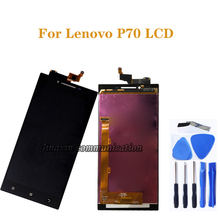 """5.0 """"レノボ P70 液晶 + タッチスクリーンデジタイザコンポーネント、レノボ P70 P70 A P70 T 液晶モニター画面の修理交換部品"""