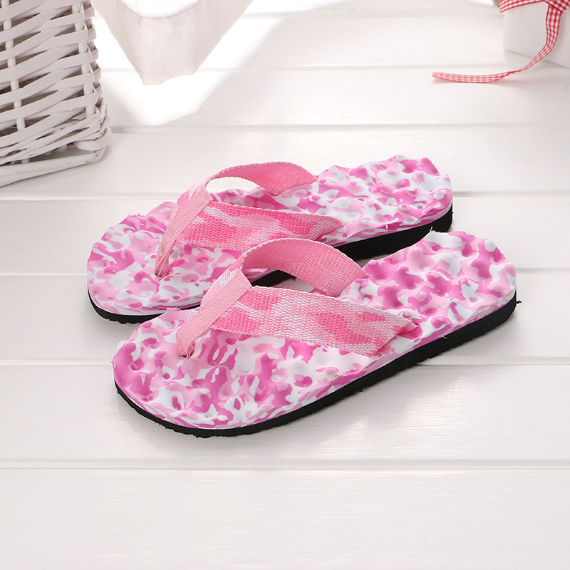 2019 Summer Slippers for Women Sandals Camouflage Flip Flops Outdoor Shoes Beach Slippers Bathing Swimming Leisure Slippers women camouflage herringbone slippers massage bottom sandals