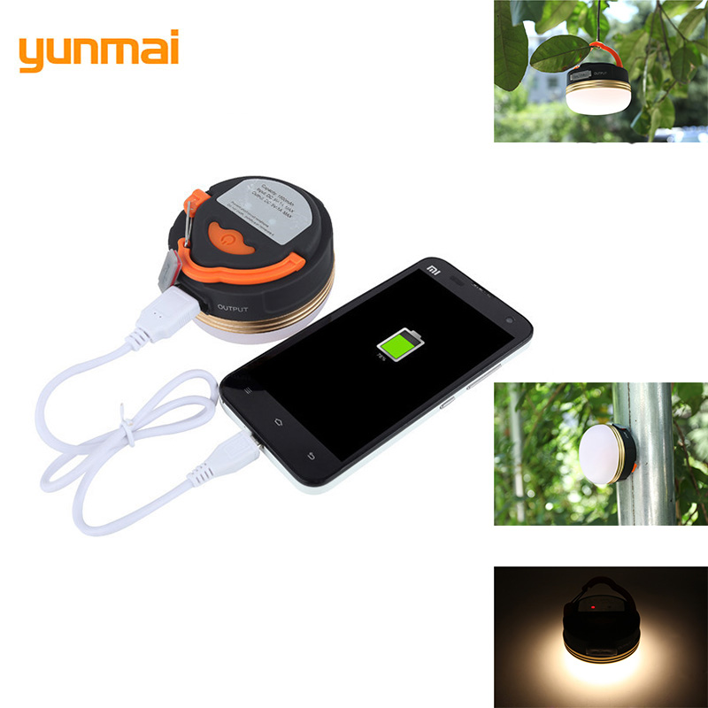 Waterproof Hiking Handy Camping Lamp Strong Magnetic Wall Light Reading Lights USB Charging LED Tent Lamp