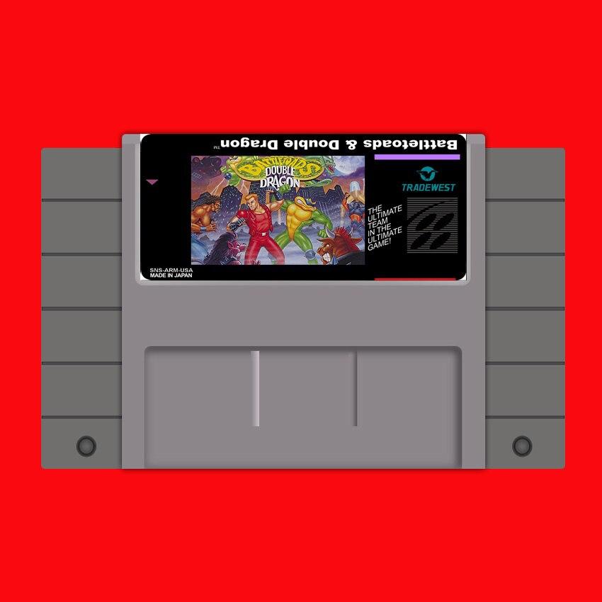 Battletoads & Double Dragon 16 bit Großen Grauen Spielkarte Für USA NTSC Spiel Player