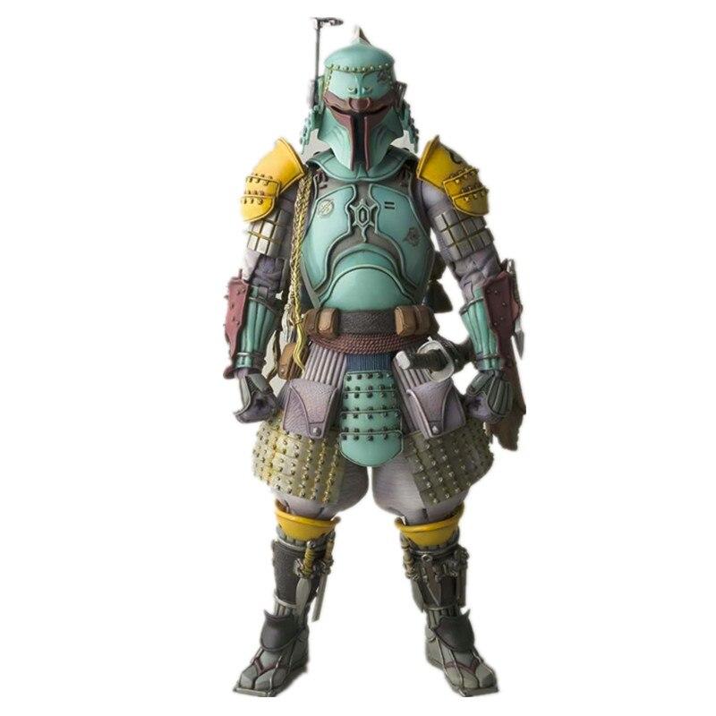 ФОТО Star Wars Action Figure Boba Fett Model Toy 17CM Movie Realization Robin Boba Fett Toy Star War Sic Samurai Taisho Doll