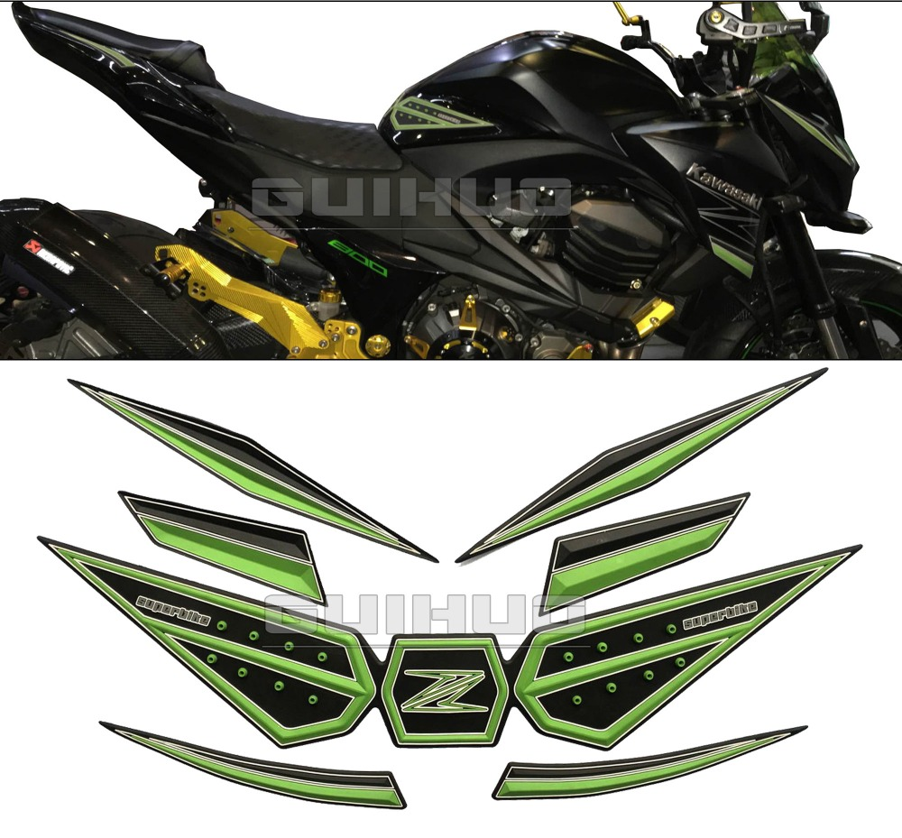 US $58 8  7 colors Motorcycle Gas Fuel Tank Traction Pad anti Side Slip  Protector For kawasak Z800 250 300 Ninjia650 250-in Decals & Stickers from
