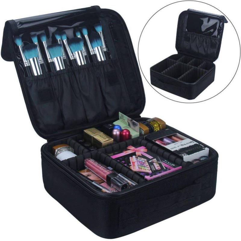 Travel Makeup Case Professional Cosmetic Makeup Bag Organizer Makeup Boxes With Compartments