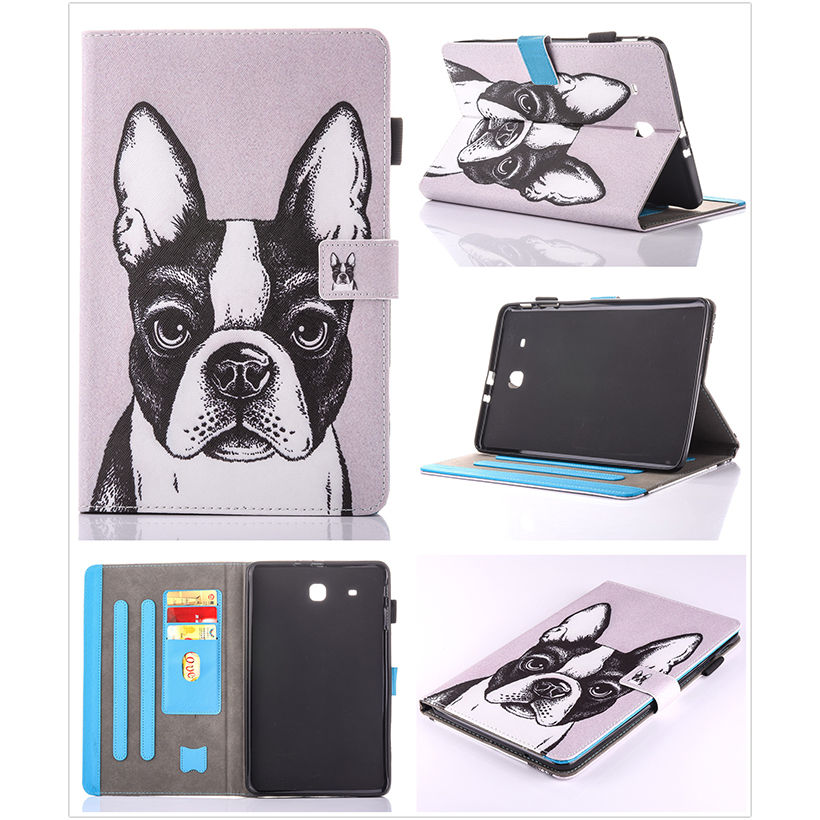 Moda Animal Flip PU cuero sFor Samsung Galaxy Tab E 9.6 para Samsung - Accesorios para tablets - foto 6