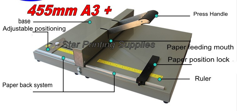 Heavy Duty Manual paper creaser, creasing machine for paper photo card 450mm , manual sc ...