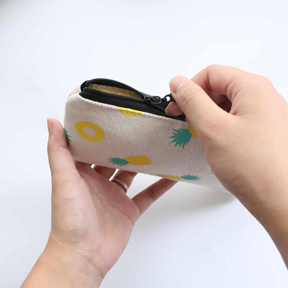 Frutas bonito mulheres bolsa da moeda da senhora super qualidade carteiras longas Carteiras titular do cartão bonito dos desenhos animados kawaii