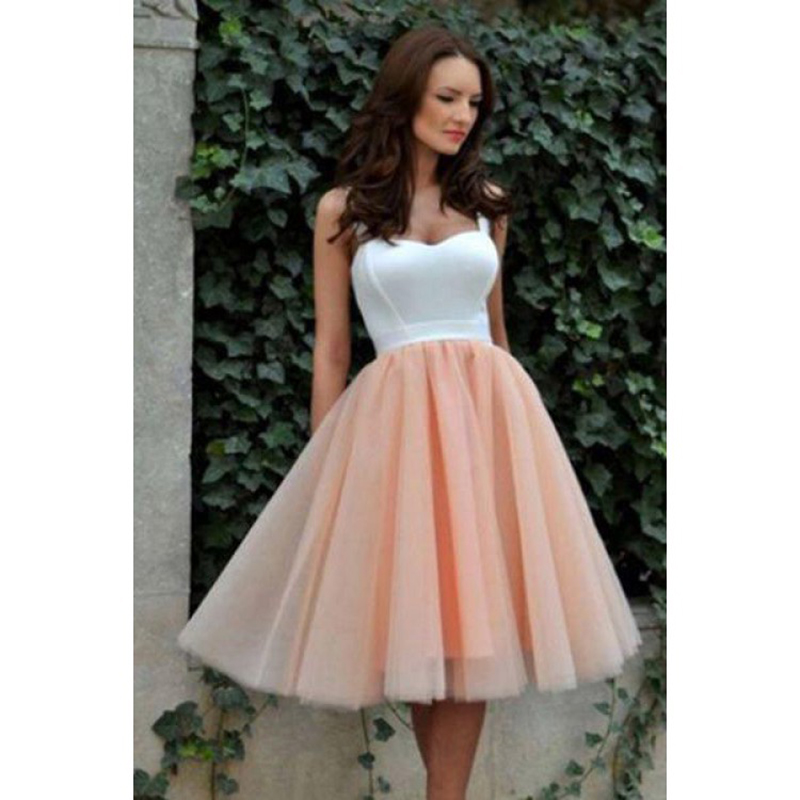 New Arrival Sweetheart Short   Bridesmaid     dresses   2018 Pink Tulle Simple   bridesmaid     dress   Robe demoiselle Prom   Dress   Party Gowns
