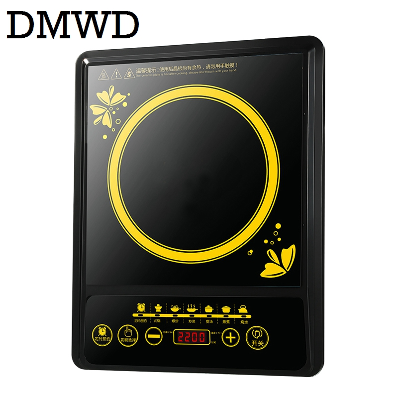 DMWD MINI electric magnetic Induction cooker 220V household waterproof small hot pot stove hotpot oven kitchen appliance EU plug