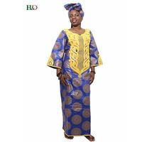 H D 2017 Fabric Cotton African Fashion Clothes Bazin Riche Dress For Women Traditional Embroidery Dress