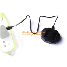 Бесплатная Доставка Быстрый Dual USB Зарядное Устройство для LP-E12 LPE12 Батареи Подходит для Canon Камеры EOS M EOS-M M2 M10 Rebel SL1 100D. ..