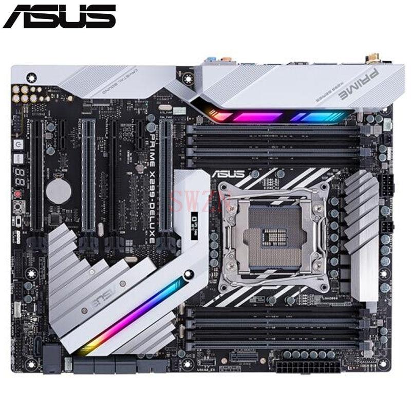 original New Desktop motherboard For ASUS PRIME X299-DELUXE X299 LGA 2066 8*DDR4 support 128G 7*SATA III 2*M.2 1*U.2 ATX rog strix x299 xe gaming x299 atx motherboard 802 11ac wi fi ddr4 dual m 2 sata 6gbps usb3 1 desktop mainboard
